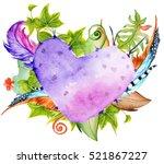 succulent plants  cactus   red... | Shutterstock . vector #521867227