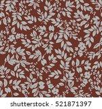leaves seamless pattern. | Shutterstock . vector #521871397