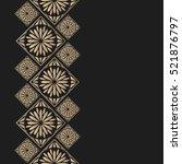 golden frame in oriental style. ...   Shutterstock .eps vector #521876797
