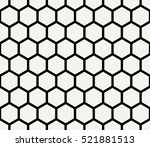 hexagon geometric black and... | Shutterstock .eps vector #521881513