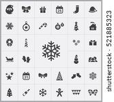 snowflake icon. christmas  new... | Shutterstock .eps vector #521885323