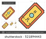 movie ticket vector line icon... | Shutterstock .eps vector #521894443