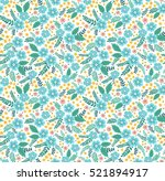 cute floral pattern in the...   Shutterstock .eps vector #521894917