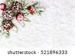 christmas decoration. branch... | Shutterstock . vector #521896333