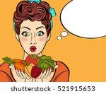 surprised pop art  woman that...   Shutterstock .eps vector #521915653