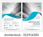 brochure layout design template ... | Shutterstock .eps vector #521916283