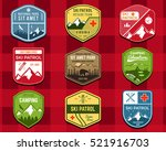 set of ski club  patrol labels. ... | Shutterstock . vector #521916703