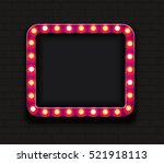 vector modern retro billboard... | Shutterstock .eps vector #521918113