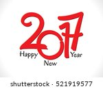 abstract artistic red new year... | Shutterstock .eps vector #521919577