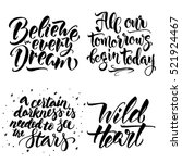 set of modern calligraphy... | Shutterstock .eps vector #521924467