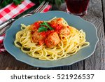 Spaghetti Pasta With Meatballs...