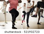 diversity people exercise class ... | Shutterstock . vector #521932723