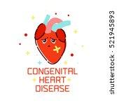 congenital heart disease... | Shutterstock .eps vector #521945893