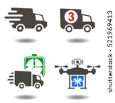 delivery logistic icons....