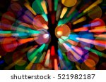 Abstract Blurred Garland Light...