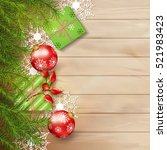 christmas vector top view... | Shutterstock .eps vector #521983423
