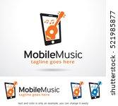 mobile music logo template... | Shutterstock .eps vector #521985877