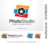 photo studio logo template... | Shutterstock .eps vector #521986003