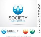 abstract society community logo ... | Shutterstock .eps vector #521986063