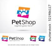 pet shop logo template design... | Shutterstock .eps vector #521986117