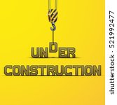 words under construction on... | Shutterstock .eps vector #521992477