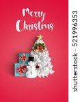merry christmas and chirstmas... | Shutterstock . vector #521996353