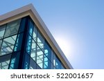 the transparent facade of the... | Shutterstock . vector #522001657