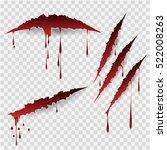 bloody scratches. vector... | Shutterstock .eps vector #522008263