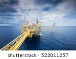 offshore oil and gas processing ... | Shutterstock . vector #522011257
