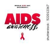 world aids day 1 december. red... | Shutterstock .eps vector #522012367