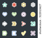 simple common vector stickers... | Shutterstock .eps vector #522013627
