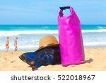 swim flippers  mask  snorkel in ...   Shutterstock . vector #522018967