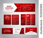 merry christmas banner  flyers  ...   Shutterstock .eps vector #522020383