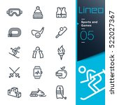 lineo   sports and games line... | Shutterstock .eps vector #522027367