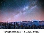fantastic winter meteor shower... | Shutterstock . vector #522035983