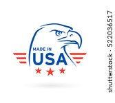 made in usa icon concept badge... | Shutterstock .eps vector #522036517