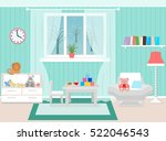 living room interior including... | Shutterstock .eps vector #522046543