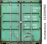 green metal shipping container
