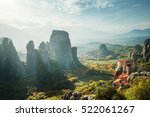 meteora monasteries in greece | Shutterstock . vector #522061267