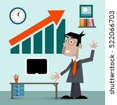 man in office. vector... | Shutterstock .eps vector #522066703