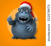 fun gorilla   3d illustration | Shutterstock . vector #522078973