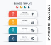 Modern infographics options template with paper sheets, icons for 4 options. Vector. Can be used for web design and workflow layout   Shutterstock vector #522081373