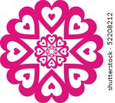 pattern from pink hearts | Shutterstock .eps vector #52208212
