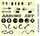 arrow indicates the direction...   Shutterstock .eps vector #522085327