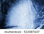 ice texture background  macro...   Shutterstock . vector #522087637