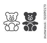 soft toy  teddy bear line icon  ... | Shutterstock .eps vector #522092173