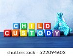 cubes with text child custody... | Shutterstock . vector #522094603