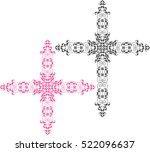 christian cross design vector... | Shutterstock .eps vector #522096637