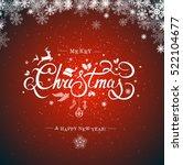 merry christmas hand lettering... | Shutterstock .eps vector #522104677