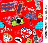 cute abstract seamless pattern... | Shutterstock .eps vector #522108517